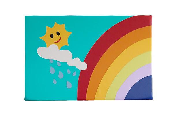 Wandpolster Regenbogen