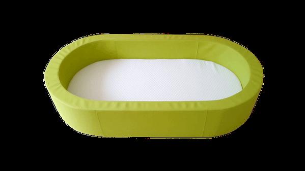 Weichschaumbetten Oval mit Matratze